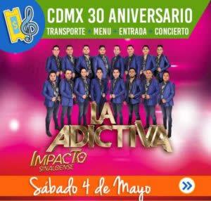 CDMX transporte + MENU + ENTRADA + Concierto